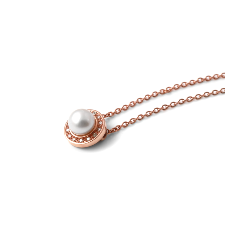 Halo diamond and pearl pendant and chain why jewellery home pearl halo diamond and pearl pendant and chain aloadofball Choice Image